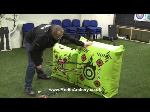 Mybo SURESHOT & HOTSHOT Archery Bag Target Demonstration and Maintenance, by Merlin Archery.