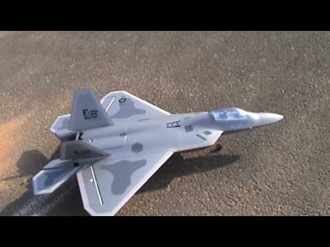 RC F22 Raptor Twin EDF Jet 2nd Beautiful Flight