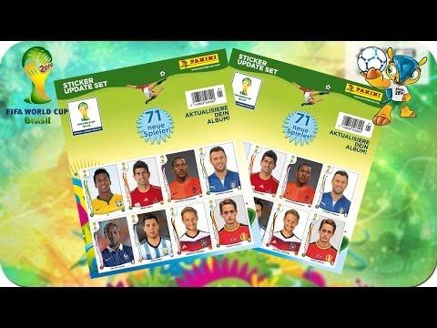 Panini Fifa World Cup Brasil 2014 Sticker Update Set ★ 71 New Players! ★ Album Update #3