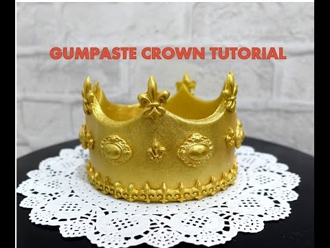 FONDANT CROWN TUTORIAL- HOW TO.