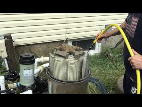 Hayward DE 4820 Pool Filter GRID Cleaning