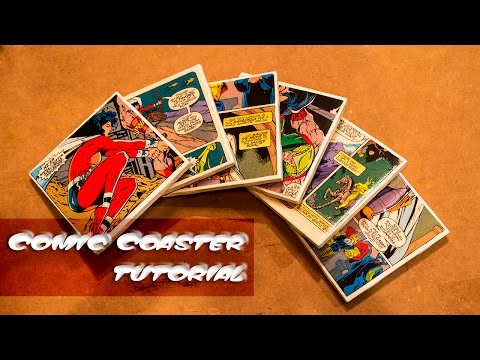 Comic Coasters Tutorial! Last Minute Holiday Gift Ideas