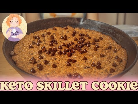 Low Carb Chocolate Chip Keto Skillet Cookie - Glutenfree and Sugarfree Baci di Dama (Lady Kisses)