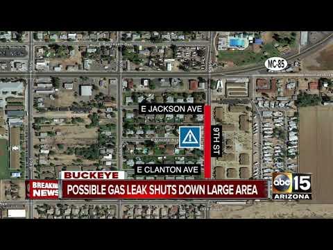 Gas leak shuts down area in Buckeye