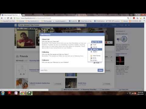 How to hide your facebook Friends list to Public and your Friends .EASY!