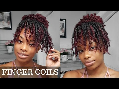 HOW TO   FINGER COILS ON KINKY CURLY HAIR + COIL OUT NATURAL HAIRSTYLE   JOURNEYTOWAISTLENGTH