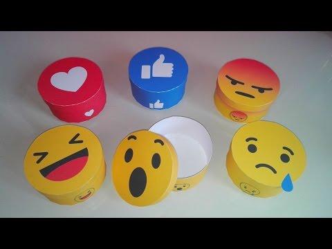 DIY : Boîte Smiley Facebook | tuto Smiley réaction !