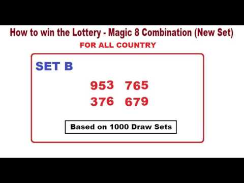 How to win the Lottery - The Magic 8 Combination (New Set)