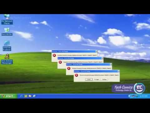 Funny moment with Windows XP  - Best song of errors ever