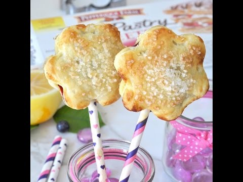 Blueberry-Lemon Puff Pastry Pie Pops by Cooking with Manuela
