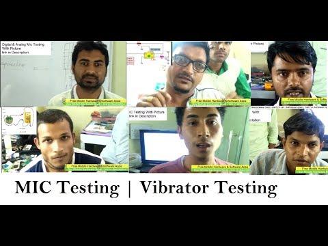Mic Testing | ANALOG MIC | DIGITAL MIC | MIC Modification | Vibra Testing  | Vibrator Supply |