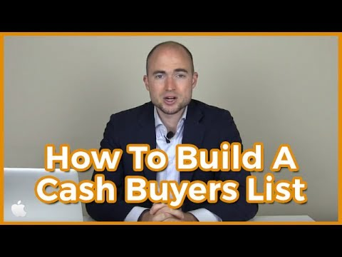 Build A Real Estate Cash Buyers List For Free | How To Find Cash Buyers (Investors)