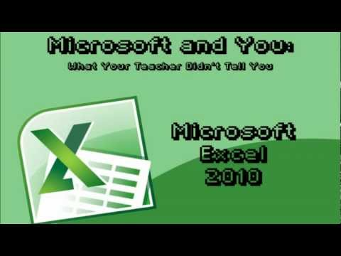 Excel 2010: Data, Graphs, and Error Bars