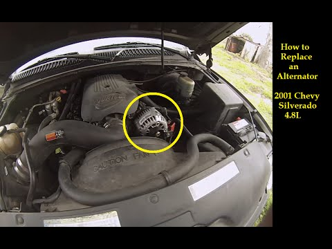 FAST--Install Replace Truck Alternator 2001 Chevy Silverado GMC Sierra 99-06 Quick and Easy