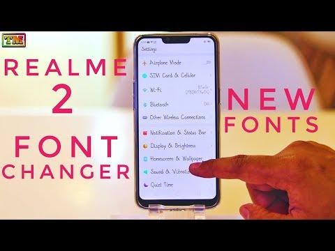 Realme 2 Font Changer | Change Fonts in Realme 2