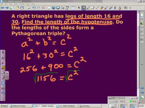 Simplest Radical Form and The Pythagorean Theorem
