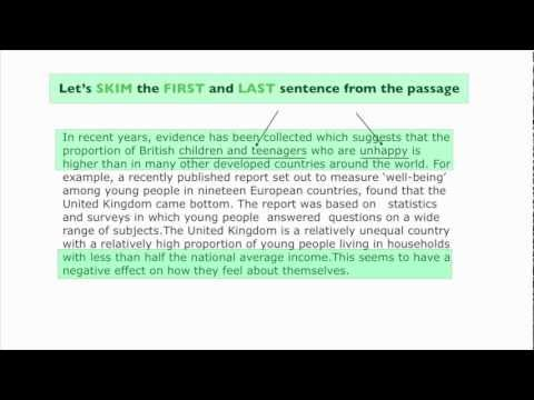 IELTS Reading - Skimming and Scanning