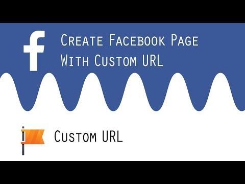Create fb page with custom url on phone