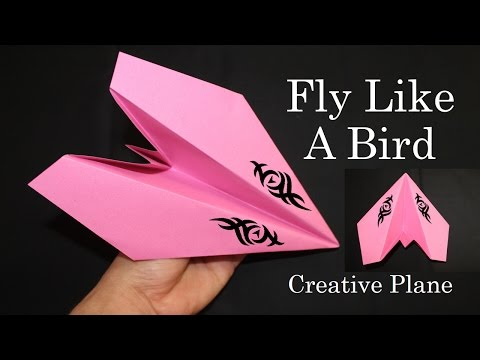 How to make a Paper plane - That Fly So Far like a bird 1000Ft (Paper Craft) Creative X