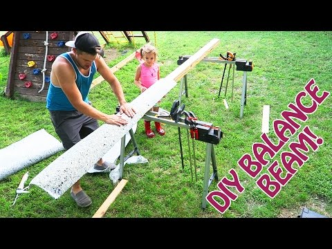 How to Make a STRONG Balance Beam for Your Little Gymnasts FOR CHEAP