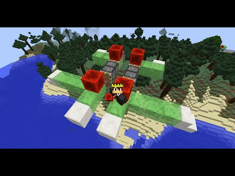 How To Make A Flying Plane In Minecraft (Very Easy and No Mods) (Updated)