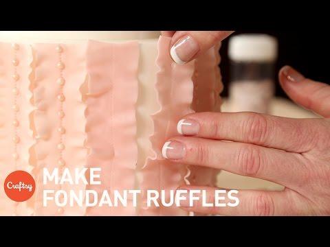Fondant Ruffles on a Cake | Cake Decorating Tutorial with Jessica Harris