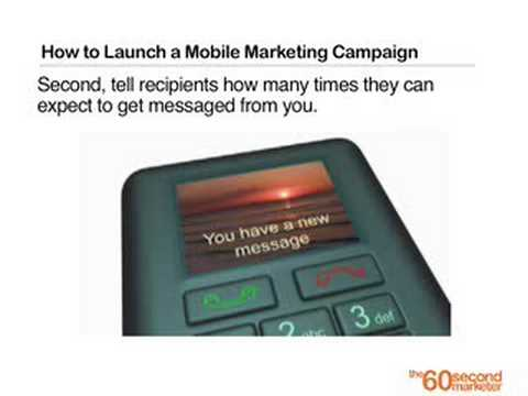How to Launch a Mobile Marketing Campaign