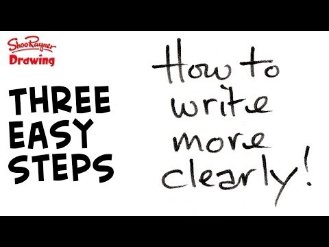 Improve your handwriting right now - three easy steps