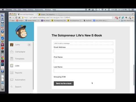 How to Change Text on MailChimp's Subscribe to List Button