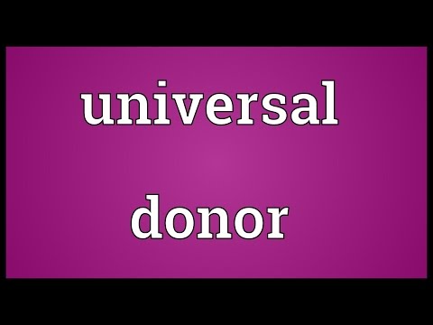 Universal donor Meaning