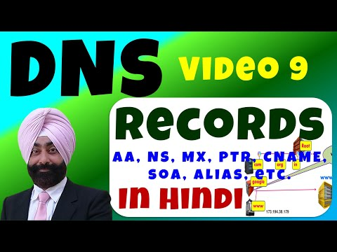 DNS Records in Hindi - DNS रिकॉर्ड - Video 9