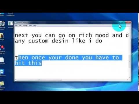 How to put custom text on skype