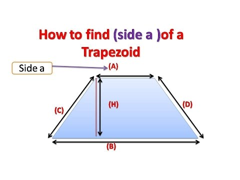 how to find  base (a) of a Trapezoid