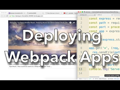 [React] Deployment of Webpack/React Apps