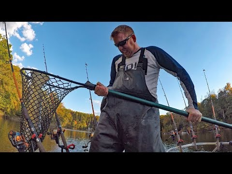 300 lb catfishing challenge Part 3 - how to catch catfish in the winter.