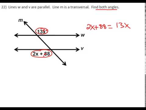 Finding Angles in Parallel Lines With Expressions