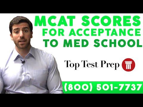 MCAT Scores for Acceptance to Med School - TopTestPrep.com