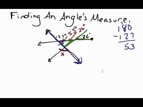 Geometry: Finding an Angle's Measure