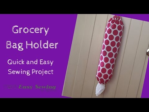 How to Make a Grocery Bag Holder - Step by Step Tutorial