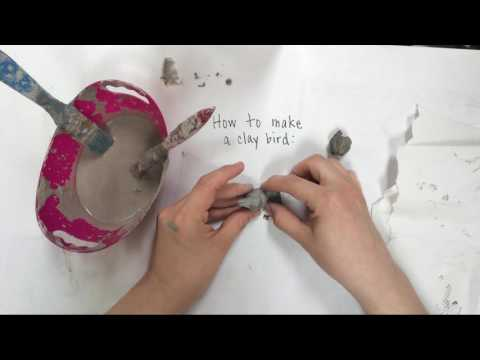 How to make a clay bird