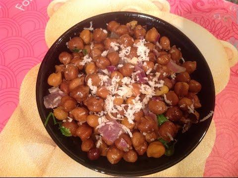 Kala chana sundal recipe with english subtitles