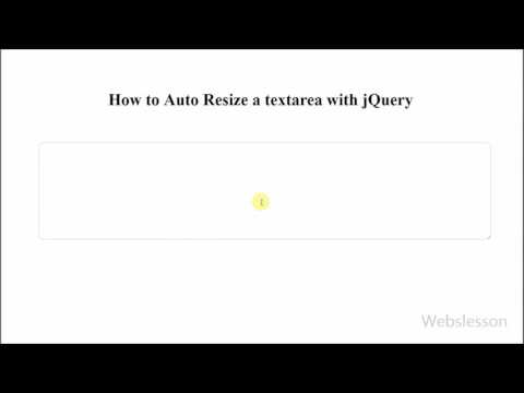 How to Auto Resize a textarea html field by jQuery