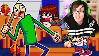 Friday night funkin but baldi doesn't allow rapping in the halls
