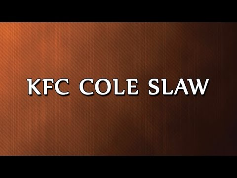 KFC Cole Slaw | RECIPES | EASY TO LEARN
