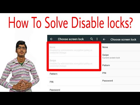 How to Enable Swipe lock , Voice lock & None  if disable by administrator.
