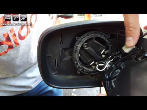 Replace wing heated mirror glass Renault Scenic Mk2 II 03-09