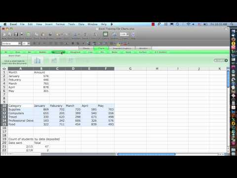 Excel 2008 for Mac  Charts Step 1