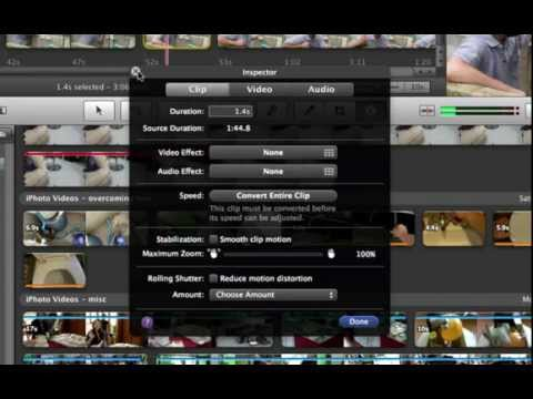 6 How to speed up and slow down your clips in iMovie 11.mp4