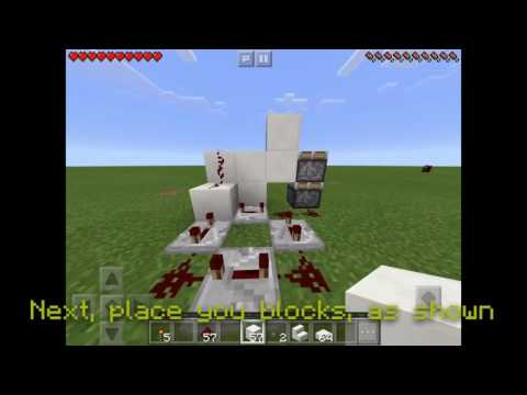 How To Make A Working Piston Elevator In Minecraft PE