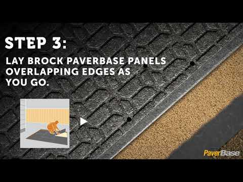 PaverBase DIY Paver Patio or Walkway Installation Instructions